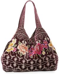Johnny Was - Flores Embroidered Velvet Tote Bag - Lyst