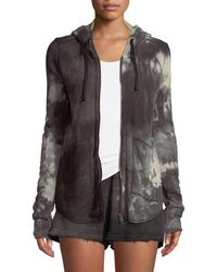 ATM - Tie-dye French-terry Zip-front Hoodie Jacket - Lyst