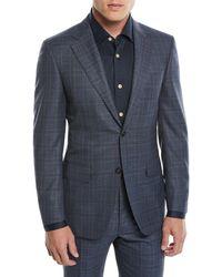 Canali - Men's 130s Wool Plaid Two-piece Suit - Lyst