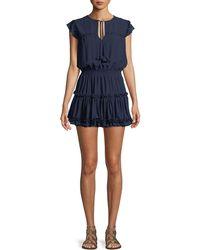 MISA - Aryana Short-sleeve Ruffle Mini Dress - Lyst