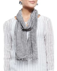 Eileen Fisher - Tinted Encrusted Sparkle Scarf - Lyst