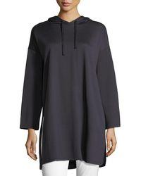 Eileen Fisher - Long-sleeve Oversized Hooded Tunic - Lyst