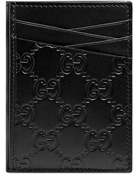 Gucci - Men's GG Signature Leather Card Case - Lyst