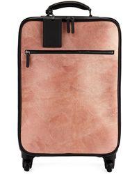Brunello Cucinelli Glitter Leather And Monili Trolley Bag Luggage - Multicolour