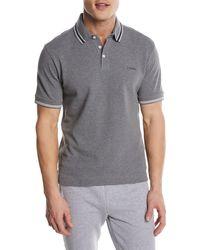 Z Zegna - Textured-knit Polo Shirt - Lyst