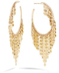 Lana Jewelry 14k Gold Fringe Hoop Earrings - Metallic
