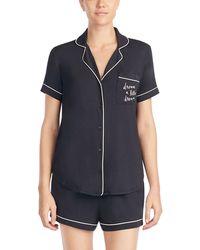 Kate Spade Dream A Little Dream Short Pajama Set - Black