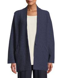 Eileen Fisher - Lightweight Boiled Wool Kimono Jacket - Lyst