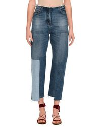 Valentino - Patchwork Cropped Skinny Jeans - Lyst