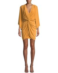 MISA - Teget Draped Cocktail Dress - Lyst