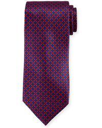 Stefano Ricci - Medallion Pattern Silk Tie - Lyst