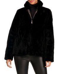 Reich Furs Reversible Sheared Mink Fur Section Jacket - Black