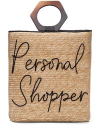Eugenia Kim Personal Shopper Straw Tote Bag - Natural