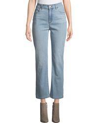 Eileen Fisher Plus Size High-waist Boot-cut Organic Cotton Denim Jeans - Blue