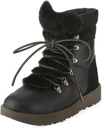 UGG - Viki Water-resistant Mixed Leather Boot - Lyst