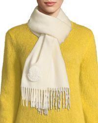Moncler - Sciarpa Wool Scarf W/ Fringe - Lyst