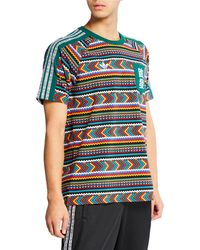 1f3525d6dfb01 adidas - Men s X Pharrell Williams Solarhu Printed Pocket T-shirt - Lyst