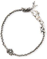 Emanuele Bicocchi - Men's Rope Chain Bracelet W/ Knot - Lyst