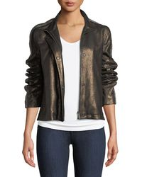 Neiman Marcus - Chain-embellished Leather Jacket - Lyst