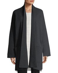 Eileen Fisher - Recycled Cashmere-blend Double-knit Coat - Lyst