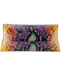 VBH - Manila Stretch T Colorful Python Clutch Bag - Lyst