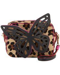 Sophia Webster - Flossy Leopard-print Butterfly Crossbody Bag - Lyst