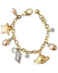 Lulu Frost Saturn Charm Bracelet - Metallic