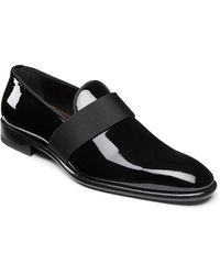 Santoni Men's Isomer Patent Slip-on - Black