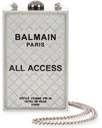 Balmain - All Access Minaudiere Box Clutch Bag - Lyst