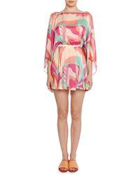 Emilio Pucci - Acapulco 3/4-sleeve V-back Mini Dress - Lyst