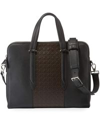 Ferragamo - Men's Firenze Gamma Textured Briefcase - Lyst