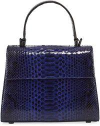 Nancy Gonzalez Lexi Small Python Top-handle Bag - Blue