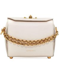 Alexander McQueen - Box 19 Silky Leather Satchel Bag W/ Removable Chains - Lyst