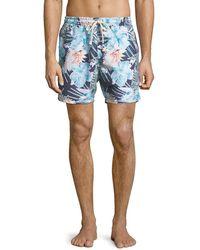 Sol Angeles - Botanica Verde Floral-print Swim Trunks - Lyst