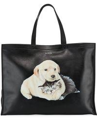 Balenciaga - Animal Print Leather Tote Bag - Lyst