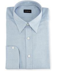 Ermenegildo Zegna - Woven Cotton Dress Shirt - Lyst