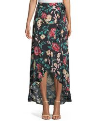 Lovers + Friends - Waves For Days Floral-print Wrap Skirt - Lyst