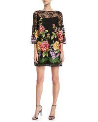 Nanette Lepore - Fiesta Lace-yoke Mini Dress - Lyst