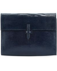 Hunting Season Small Soft Flap Clutch Bag - Blue