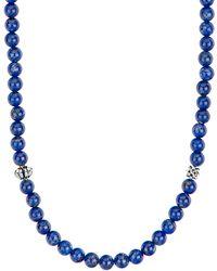 Lagos - Caviar Icon Long Necklace, Lapis - Lyst