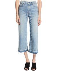 10 Crosby Derek Lam - Dylan Wide-leg Raw Culotte Jeans - Lyst