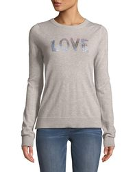 Zadig & Voltaire - Love Embellished Graphic Cashmere Sweater - Lyst
