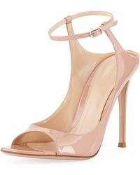 Gianvito Rossi - Shiny Ankle-strap Sandals - Lyst