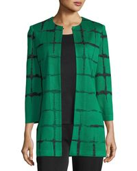 Misook | Faded Lines Long Jacket | Lyst