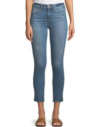 Joe's Jeans - The Icon Cropped Skinny Jeans W/ Split Hem - Lyst