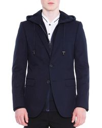 Lanvin - Attitude Two-button Soft Jacket Navy - Lyst