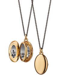 Monica Rich Kosann - Midi 18k Gold Oval Locket Necklace - Lyst