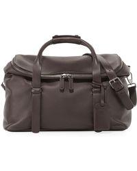 Giorgio Armani Deerskin Leather Weekender Bag - Brown