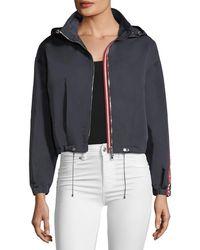 Moncler - Zirconite Logo-sleeve Cropped Jacket - Lyst