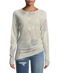 Zadig & Voltaire - Crisp Camo-print Crewneck Long-sleeve Cashmere Sweater - Lyst